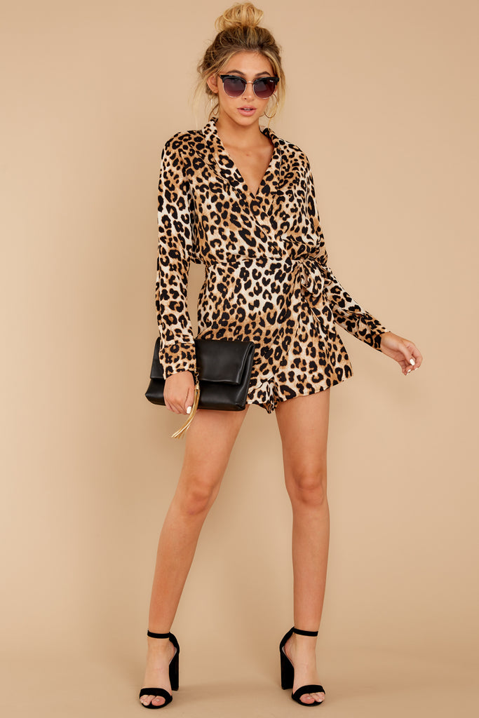1 Chasing Chic Light Leopard Print Romper at reddress.com