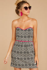 5 Hearts In A Riot Black And White Print Dress at reddress.com