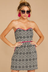 6 Hearts In A Riot Black And White Print Dress at reddress.com