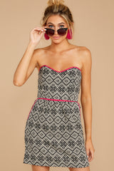 1 Hearts In A Riot Black And White Print Dress at reddress.com