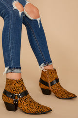 2 City Streets Cheetah Print Ankle Booties at reddress.com