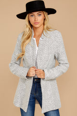 6 I Know Places Light Grey Tweed Coat at reddressboutique.com