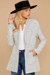 4 I Know Places Light Grey Tweed Coat at reddressboutique.com