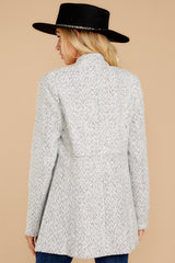8 I Know Places Light Grey Tweed Coat at reddressboutique.com