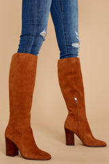 1 Kasidy Brown Boots at reddressboutique.com
