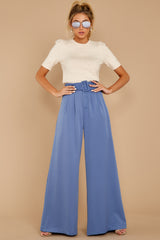 4 State The Facts Cornflower Blue Pants at reddressboutique.com