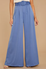 1 State The Facts Cornflower Blue Pants at reddressboutique.com