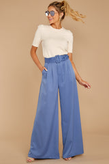 5 State The Facts Cornflower Blue Pants at reddressboutique.com