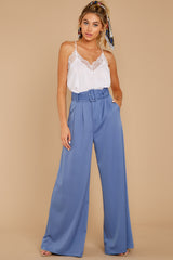 6 State The Facts Cornflower Blue Pants at reddressboutique.com