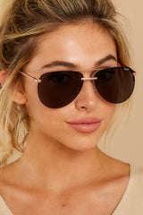 2 Playa Rose Smoke Sunglasses at reddressboutique.com