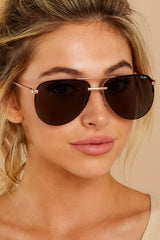 3 Playa Rose Smoke Sunglasses at reddressboutique.com