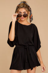 4 Surefire Style Black Romper at reddressboutique.com