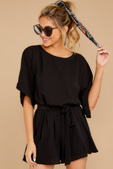 5 Surefire Style Black Romper at reddressboutique.com