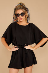 6 Surefire Style Black Romper at reddressboutique.com
