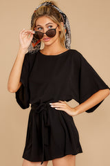 7 Surefire Style Black Romper at reddressboutique.com