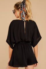 8 Surefire Style Black Romper at reddressboutique.com