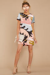 2 Party For Two Pink Multi Print Dress at reddressboutique.com