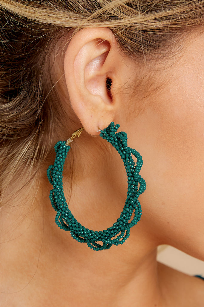 1 A World Away Teal Green Earrings at reddressboutique.com