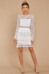 2 Out For Love White Lace Dress at redressboutique.com