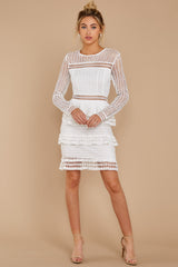 3 Out For Love White Lace Dress at redressboutique.com