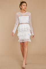 4 Out For Love White Lace Dress at redressboutique.com