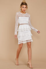 5 Out For Love White Lace Dress at redressboutique.com