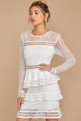 6 Out For Love White Lace Dress at redress.com