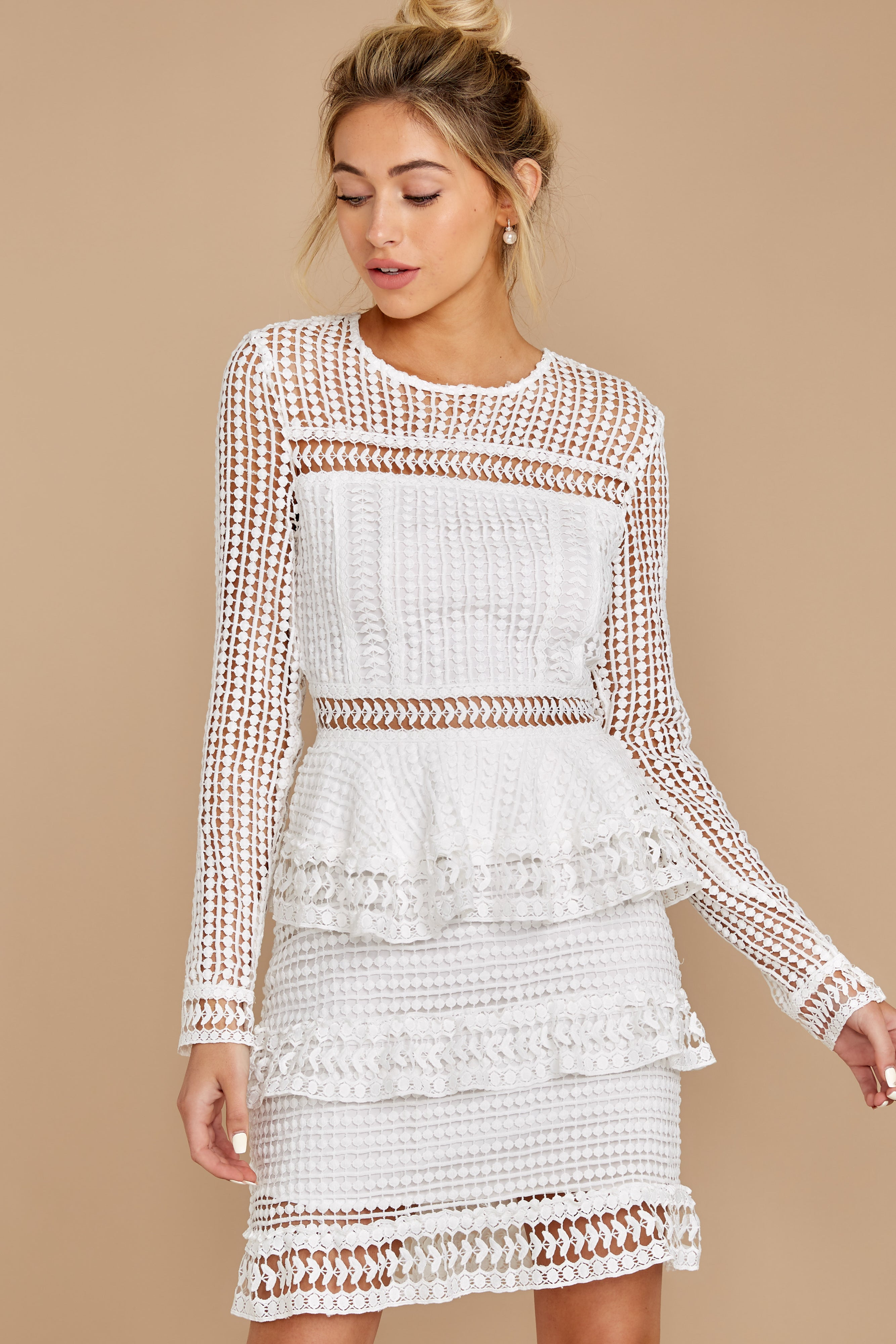 1 Out For Love White Lace Dress at redress.com