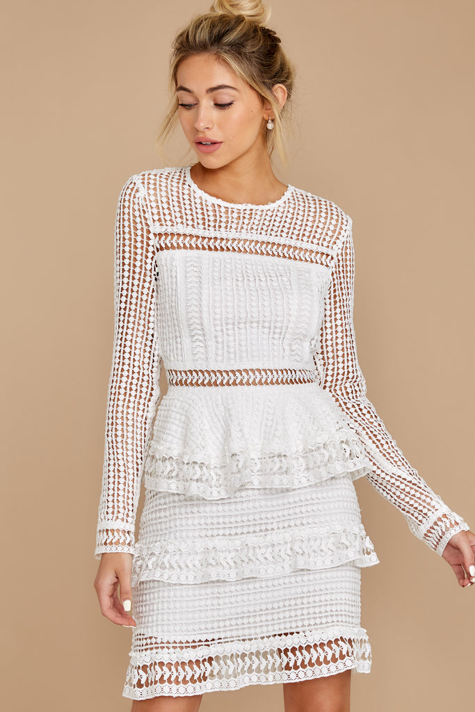 1 I'm A Destination White Lace Dress at reddress.com