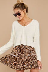 4 As Cool As You Ivory Sweater at reddressboutique.com