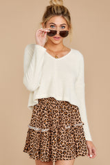 5 As Cool As You Ivory Sweater at reddressboutique.com