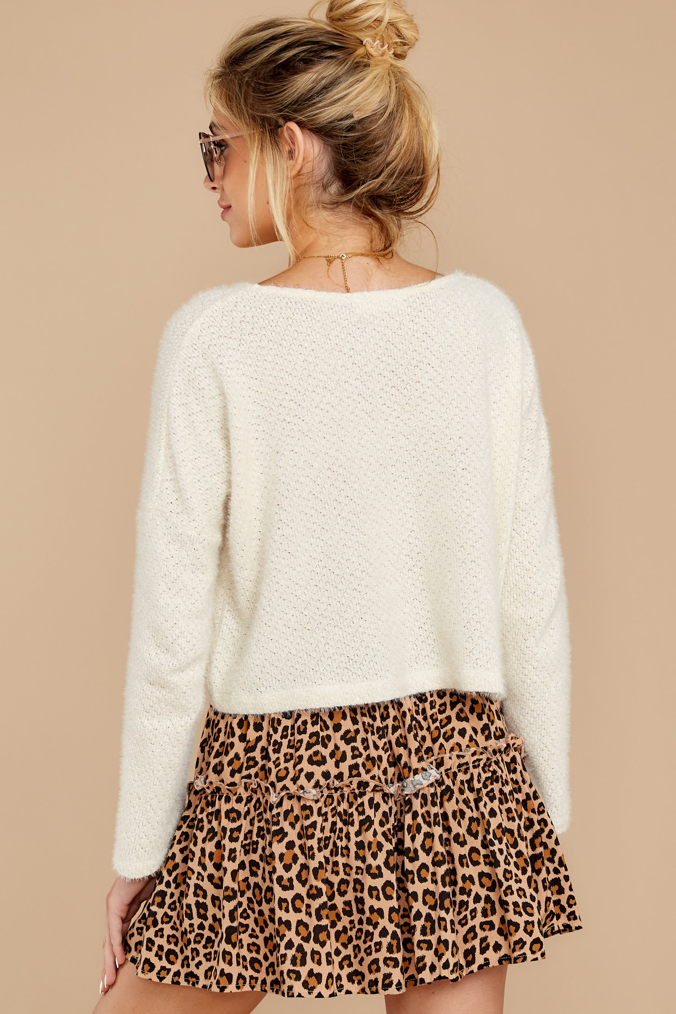 8 As Cool As You Ivory Sweater at reddressboutique.com