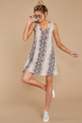 4 On The Sly Snake Print Dress at reddressboutique.com