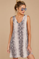 5 On The Sly Snake Print Dress at reddressboutique.com