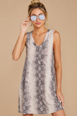 6 On The Sly Snake Print Dress at reddressboutique.com