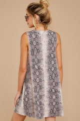 8 On The Sly Snake Print Dress at reddressboutique.com
