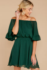 4 Effortless Grace Dark Green Dress at reddressboutique.com
