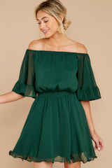 6 Effortless Grace Dark Green Dress at reddressboutique.com