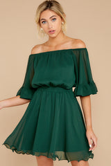 7 Effortless Grace Dark Green Dress at reddressboutique.com
