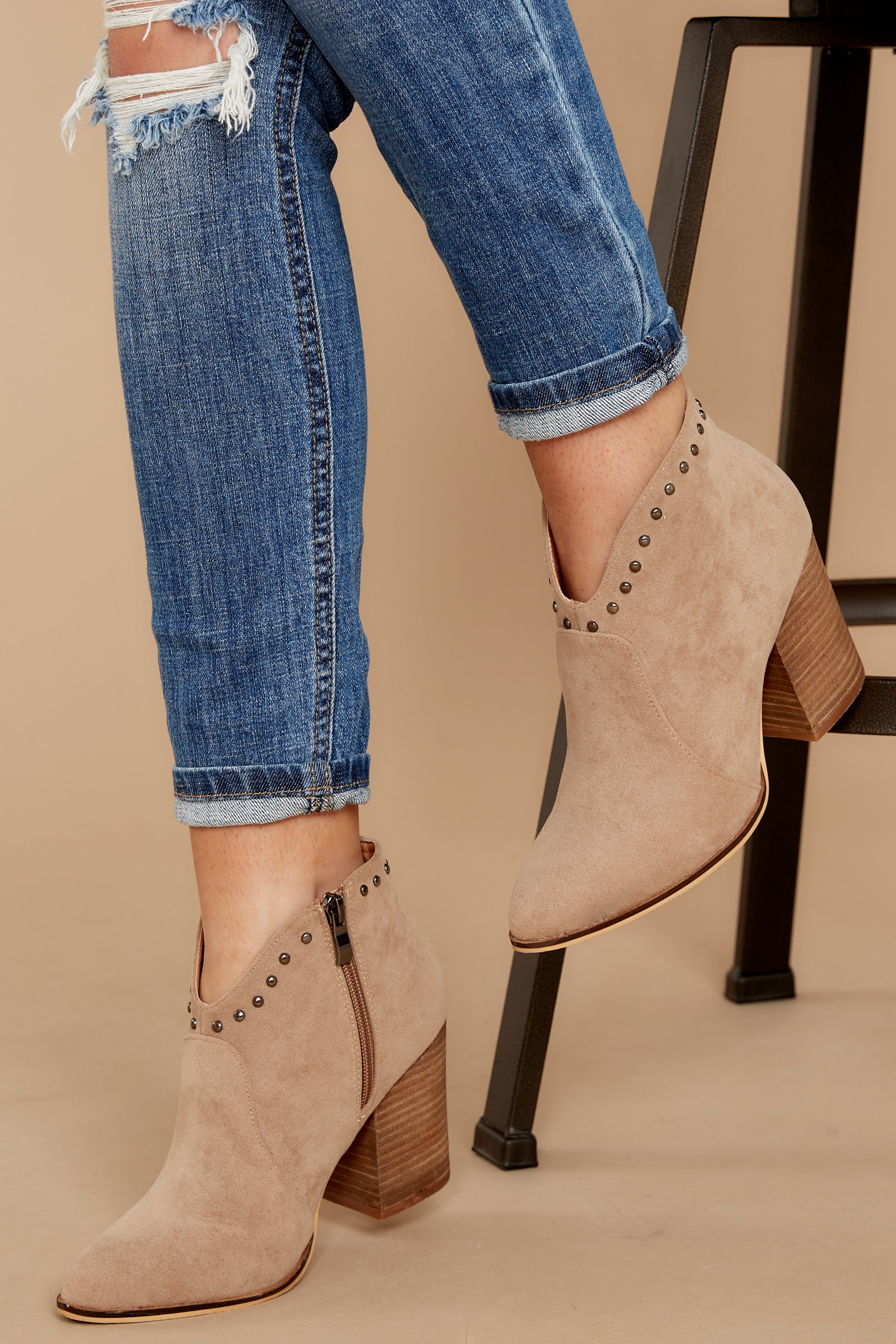 1 Wander Through Aspens Sand Beige Booties at reddressboutique.com