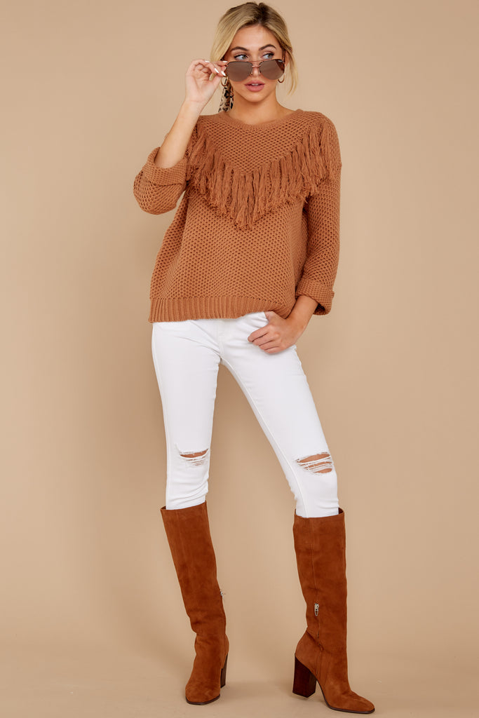 5 Give It A Rest Copper Sweater at reddressboutique.com