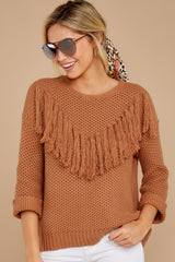 4 Timing Is Everything Caramel Sweater at reddress.com