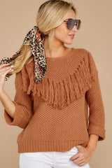 5 Timing Is Everything Caramel Sweater at reddress.com