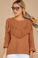 6 Timing Is Everything Caramel Sweater at reddressboutique.com