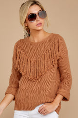 7 Timing Is Everything Caramel Sweater at reddress.com