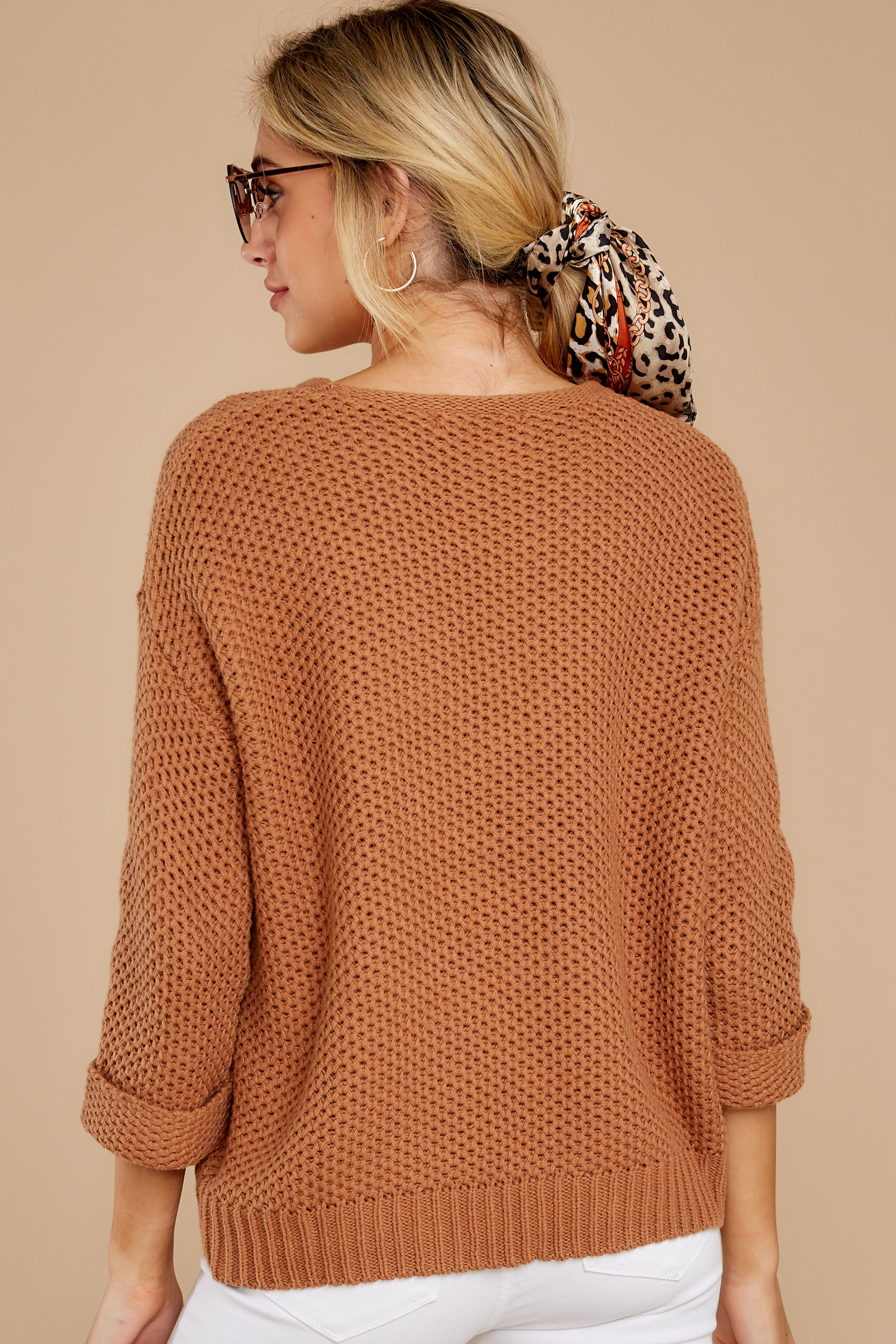 8 Timing Is Everything Caramel Sweater at reddress.com