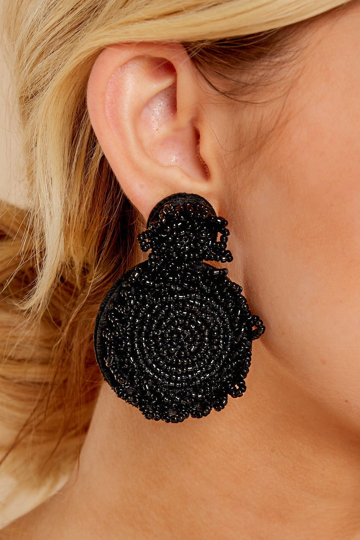 Bust A Move Black Statement Earrings