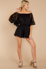 3 A Little Diddy Black Romper at reddressboutique.com