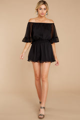 4 A Little Diddy Black Romper at reddressboutique.com
