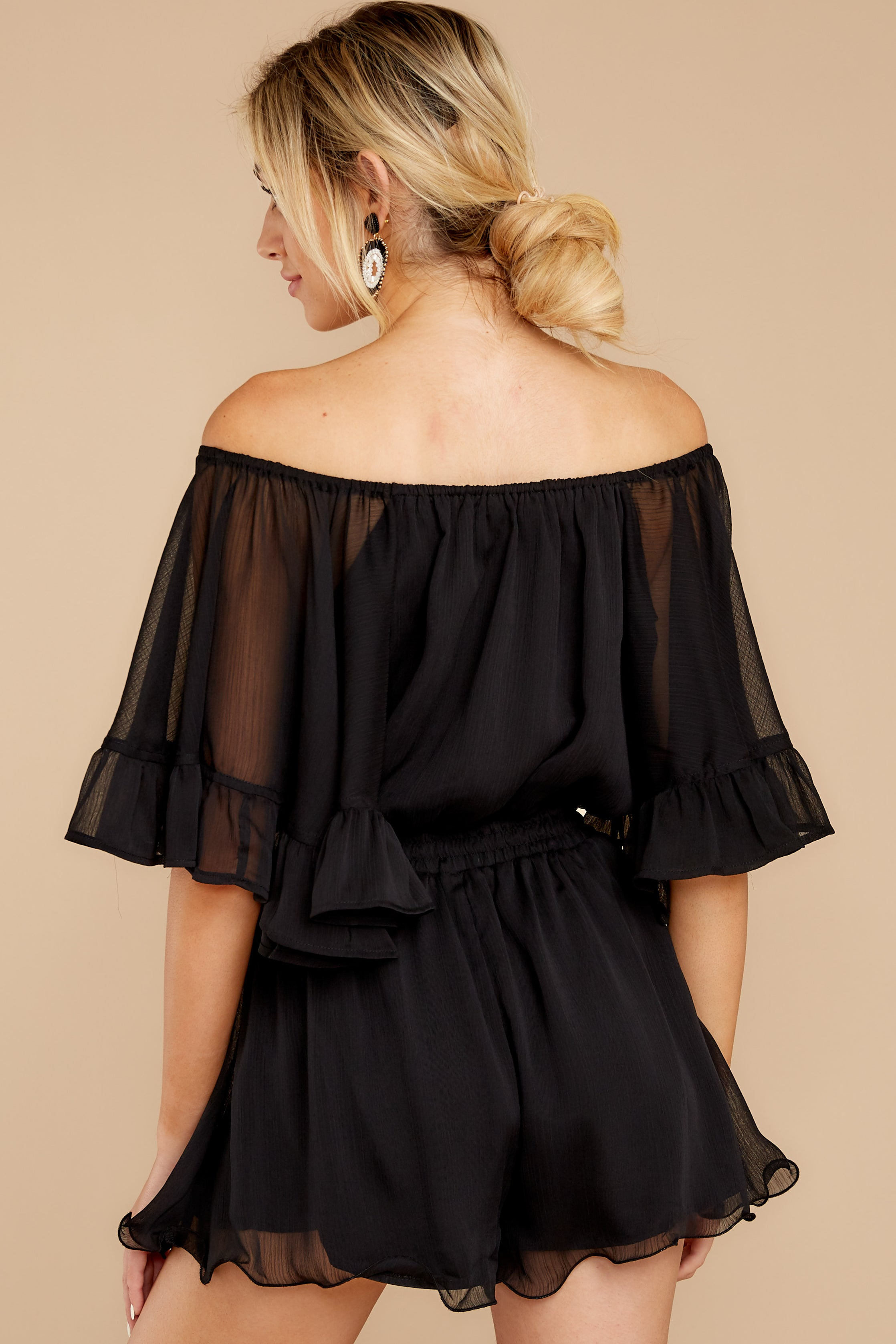 8 A Little Diddy Black Romper at reddressboutique.com